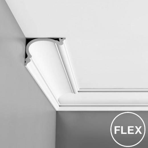 Карниз Orac decor - Luxxus (12,2х8,8х200 см), Гибкий, Артикул  C341F