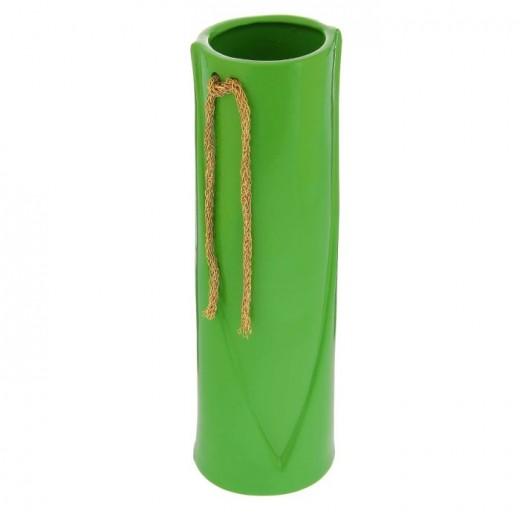 Ваза настольная (керамика), Цвет зеленый, Арт. 7656