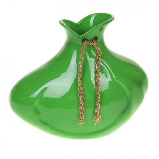 Ваза настольная (керамика), Цвет зеленый, Арт. 7658
