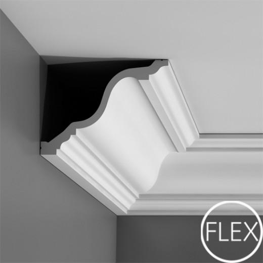Карниз Orac decor - Luxxus (19,6х15х200 см), Гибкий, Артикул  C334F