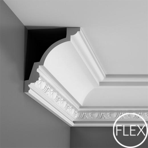 Карниз Orac decor - Luxxus (14,4х17х200 см), Гибкий, Артикул  C301F
