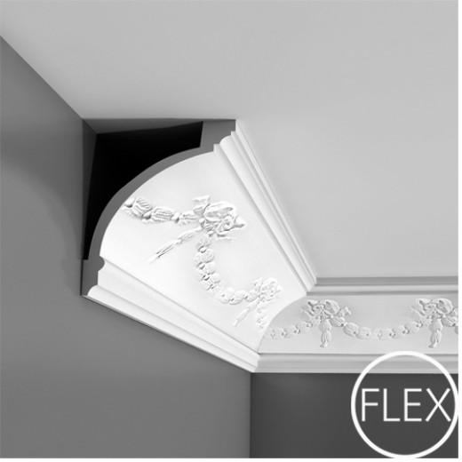 Карниз Orac decor - Luxxus (12х15х200 см), Гибкий, Артикул  C218F