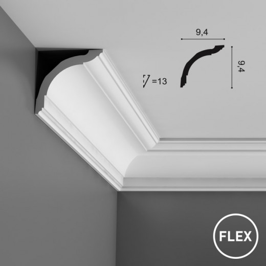 Карниз Orac decor - Axxent (9,4х9,4х200 см), Гибкий, Артикул  CX127F