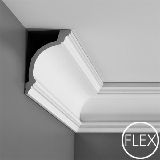 Карниз Orac decor - Luxxus (10,3х15,6х200 см), Гибкий, Артикул  C217F