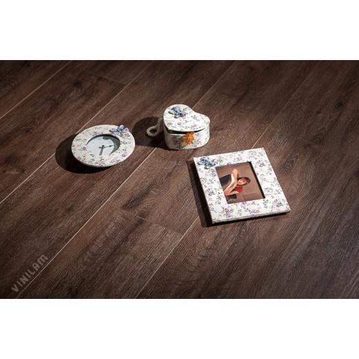 Виниловый ламинат Vinilam - Гибрид + Пробка Дуб Лир, Арт. 10-085V
