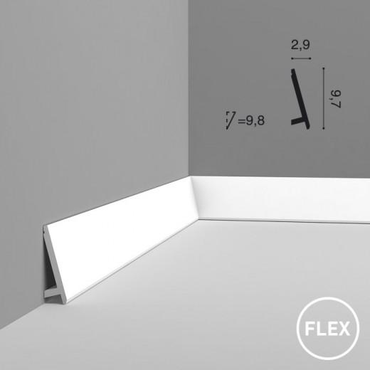 Плинтус Orac decor - Modern (2,9х9,7х200 см), Гибкий, Артикул  SX179F
