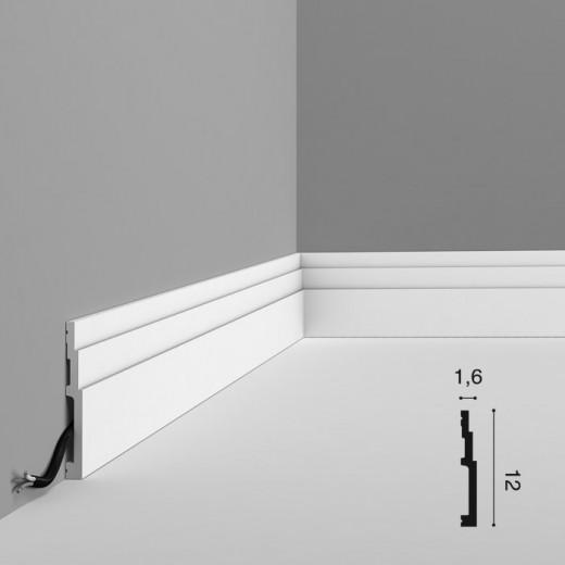 Плинтус Orac decor - Modern (1,6х12х200 см), Артикул  SX180