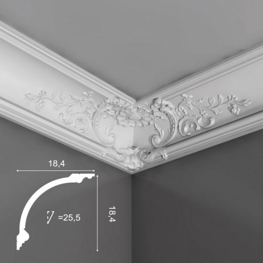 Карниз Orac decor - Luxxus (18,4х18,4х200 см), Артикул  C338B
