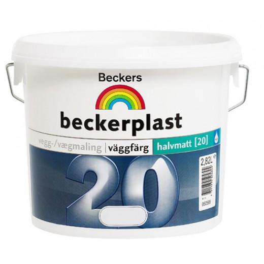 Краска Beckers Beckerplast 20 (полуматовая), База A, Цвет белый, 2,7 л