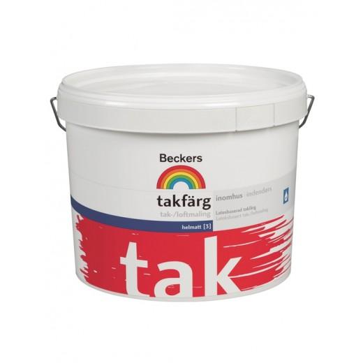 Краска Beckers Takfarg 3 (глубокоматовая), Цвет белый, 3 л