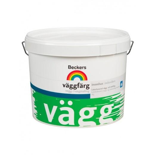 Краска Beckers Vaggfarg 7 (матовая), База A, Цвет белый, 0,9 л