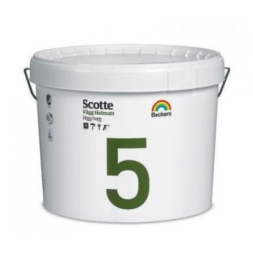 Краска Beckers Scotte 5 (матовая), База A, Цвет белый, 2,7 л