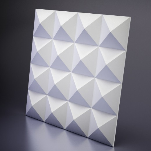 3D Панель Artpole Zoom (600х600х40 см), Гипс, Цвет белый