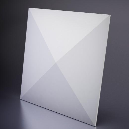 3D Панель Artpole Zoom X4 (600х600х40 см), Гипс, Цвет белый