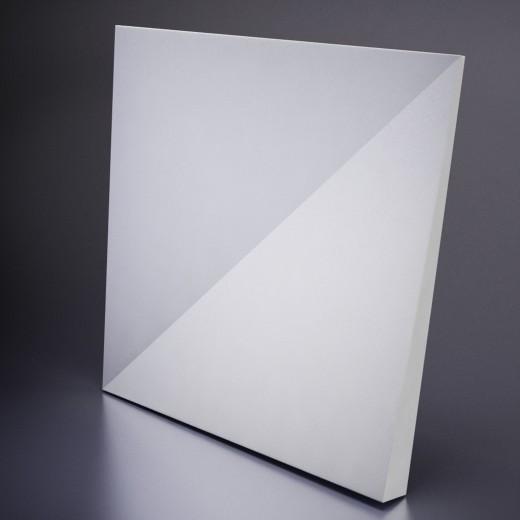 3D Панель Artpole Romb (600х600х40 см), Гипс, Цвет белый