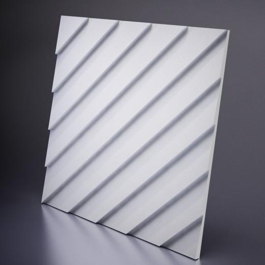 3D Панель Artpole Lambert (600х600х30 см), Гипс, Цвет белый