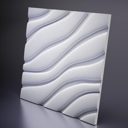 3D Панель Artpole Velvet (600х600х25 см), Гипс, Цвет белый