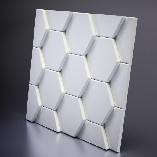 3D Панель Artpole Bee (600х600х33 см), Гипс, Цвет белый