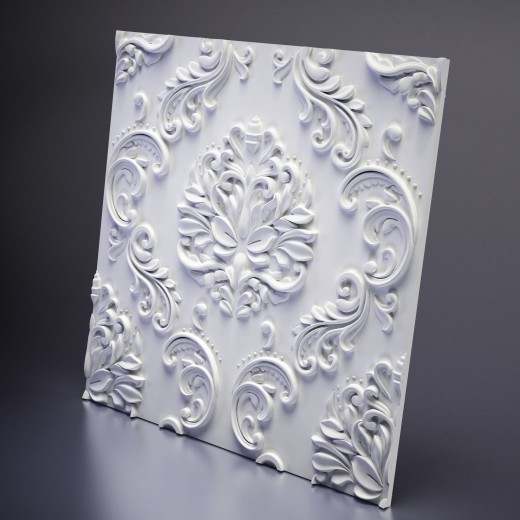 3D Панель Artpole Valencia (600х600х22 см), Гипс, Цвет белый