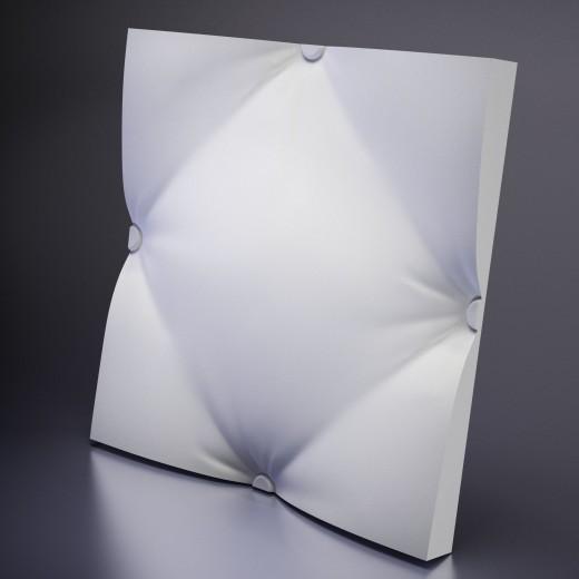 3D Панель Artpole Ampir (600х600х50 см), Гипс, Цвет белый