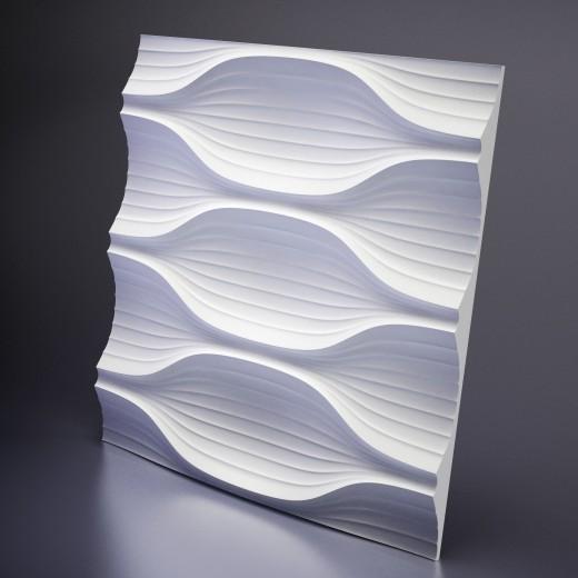 3D Панель Artpole Blade (600х600х40 см), Гипс, Цвет белый