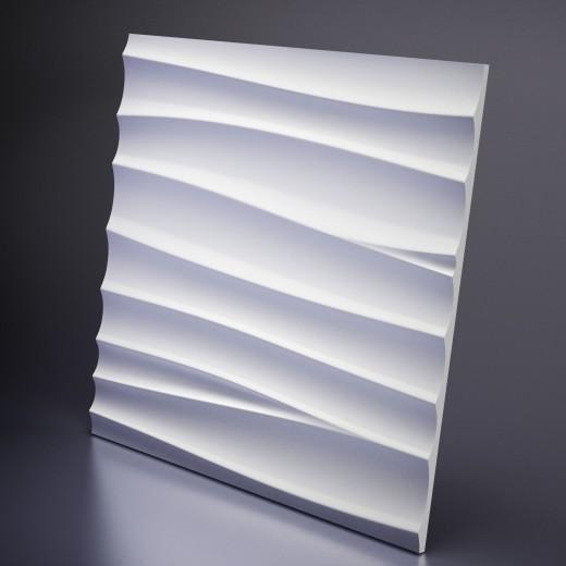 3D Панель Artpole Breeze 1 (600х600х21 см), Гипс, Цвет белый