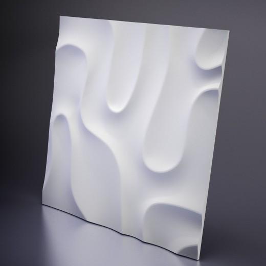 3D Панель Artpole Fog 1 (600х600х40 см), Гипс, Цвет белый