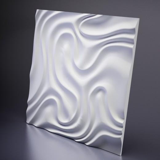 3D Панель Artpole Foggy 1 (650х650х16 см), Гипс, Цвет белый
