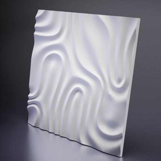 3D Панель Artpole Foggy 2 (650х650х16 см), Гипс, Цвет белый