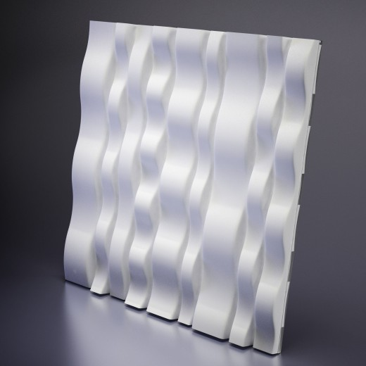 3D Панель Artpole Matrix (600х600х40 см), Гипс, Цвет белый