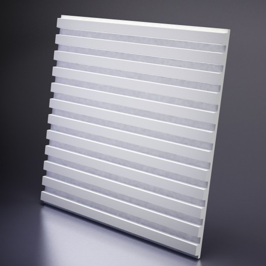 3D Панель Artpole Paraline (600х600х30 см), Гипс, Цвет белый