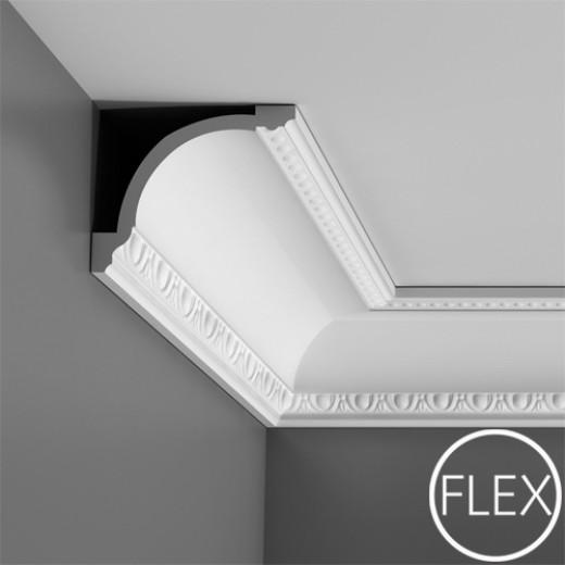 Карниз Orac decor - Luxxus (13,3х11,6х200 см), Гибкий, Артикул  C216F