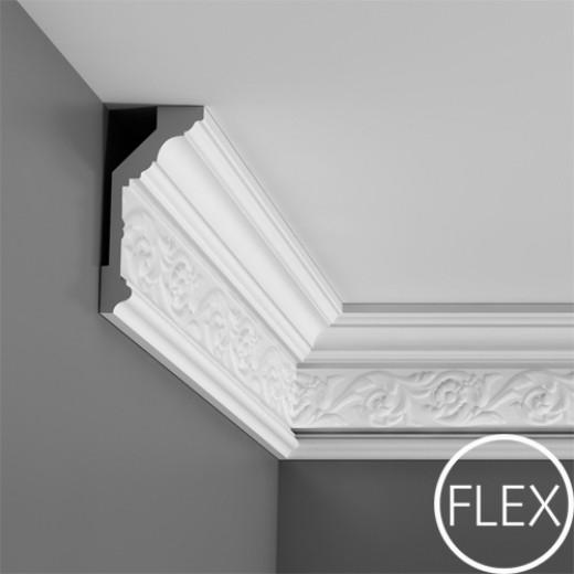 Карниз Orac decor - Luxxus (6,5х14,4х200 см), Гибкий, Артикул  C303F