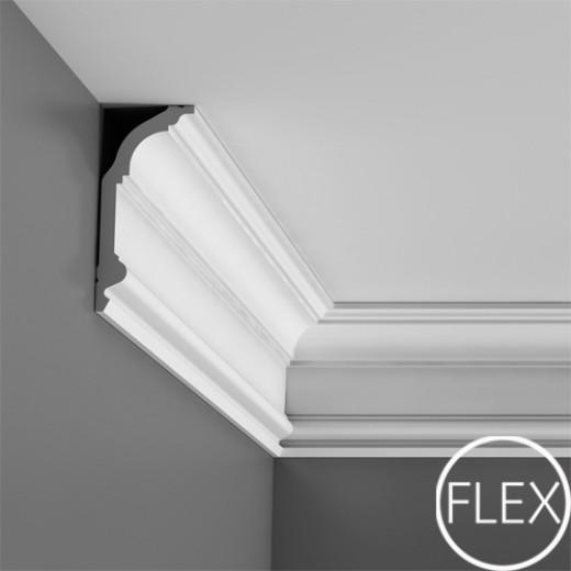 Карниз Orac decor - Luxxus (6,4х14,1х200 см), Гибкий, Артикул  C339F