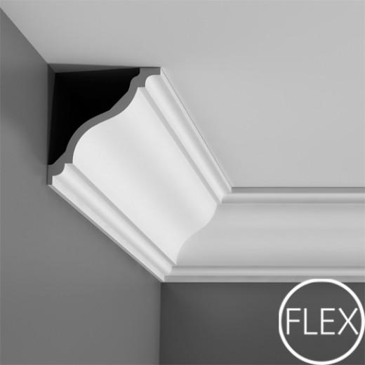 Карниз Orac decor - Luxxus (11,1х12,2х200 см), Гибкий, Артикул  C333F
