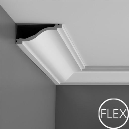 Карниз Orac decor - Luxxus (13,5х6,4х200 см), Гибкий, Артикул  C331F