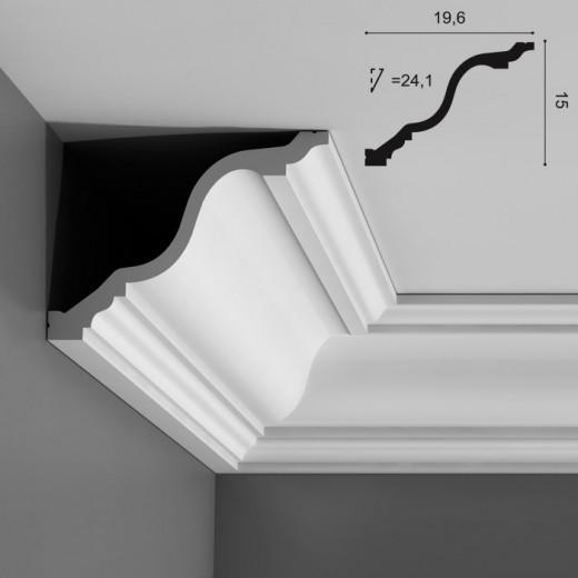 Карниз Orac decor - Luxxus (19,6х15х200 см), Артикул  C334