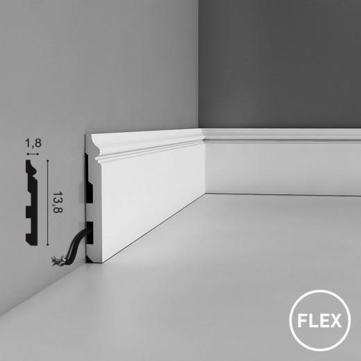 Плинтус Orac decor - Axxent (1,8х13,8х200 см), Гибкий, Артикул  SX118F