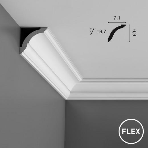 Карниз Orac decor - Axxent (7,1х6,9х200 см), Гибкий, Артикул  CX100F