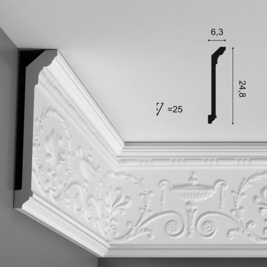 Карниз Orac decor - Luxxus (6,3х24,8х200 см), Артикул  C308