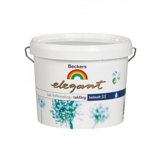 Краска Beckers Elegant Takfarg 2 (глубокоматовая), Цвет белый, 10 л