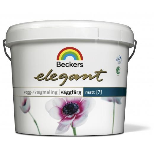 Краска Beckers Elegant Vaggfarg Matt 7 (матовая), База A, Цвет белый, 0,9 л