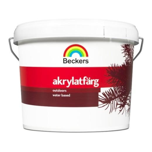Краска Beckers Akrylatfarg 14 (полуматовая), База A, Цвет белый, 9 л