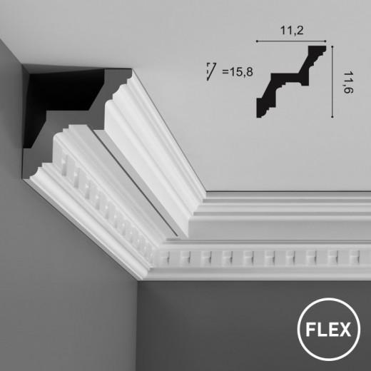 Карниз Orac decor - Luxxus (4,5х7,3х200 см), Гибкий, Артикул  C212F