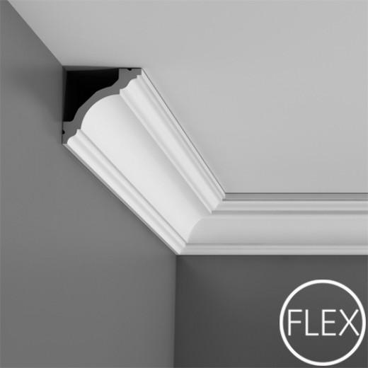 Карниз Orac decor - Luxxus (8х8х200 см), Гибкий, Артикул  C213F