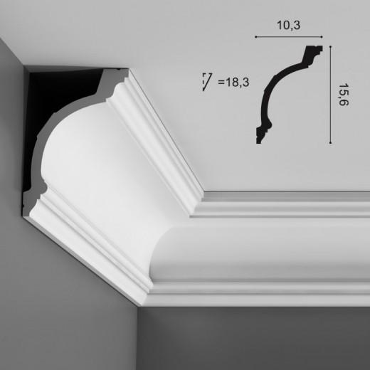Карниз Orac decor - Luxxus (10,3х15,6х200 см), Артикул  C217