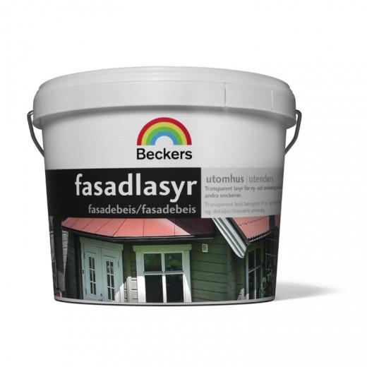 Лазурь Beckers Fasadlasyr 35 (полуглянцевая), 0,9 л