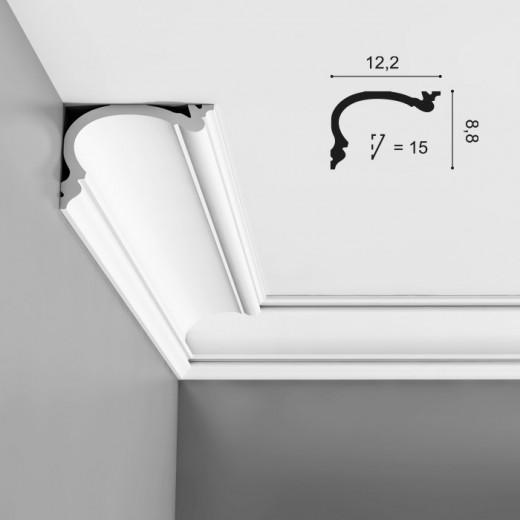 Карниз Orac decor - Luxxus (12,2х8,8х200 см), Артикул  C341