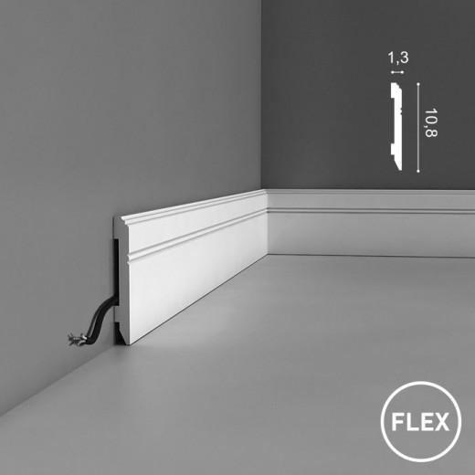 Плинтус Orac decor - Axxent (1,3х10,8х200 см), Гибкий, Артикул  SX105F