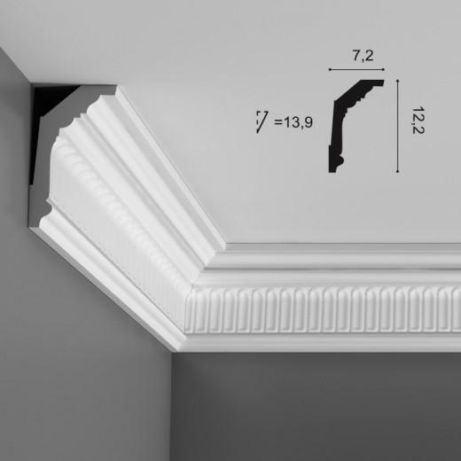 Карниз Orac decor - Luxxus (7,2х12,2х200 см), Артикул  C304
